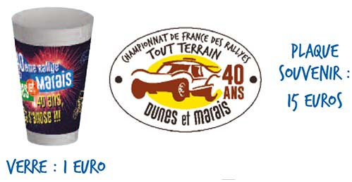 article boutique Rallye Dunes et Marais 2017